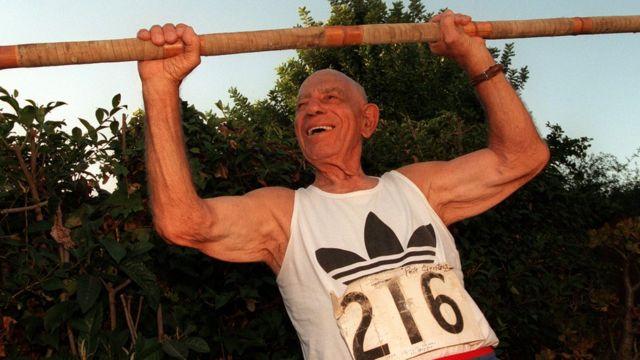 Пит Клентзос, участник Олимпиады в Лос-Анджелесе 1932 года.