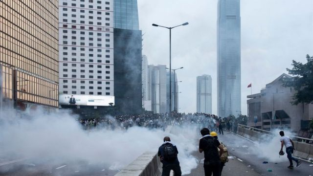 6月12日,香港金钟。