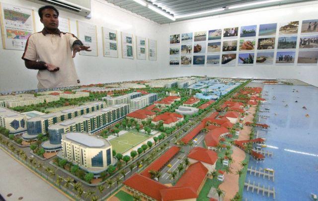 Una vista del proyecto de Hulhumalé