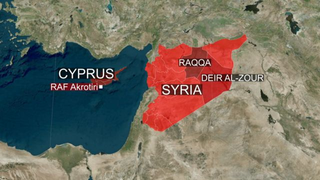 シリアとキプロスの位置関係