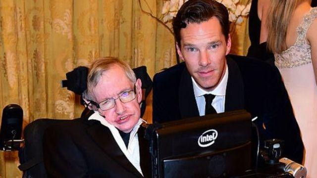 Hawking e Cumberbatch