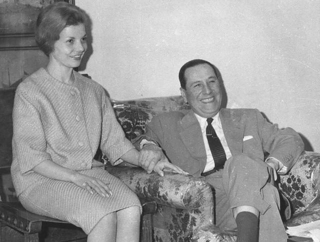 Juan Domingo Perón con Isabel en 1962.