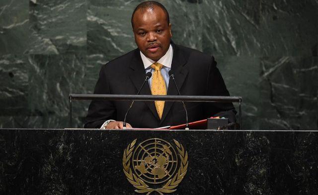 Mswati III en la Asamblea General de la ONU en 2015.