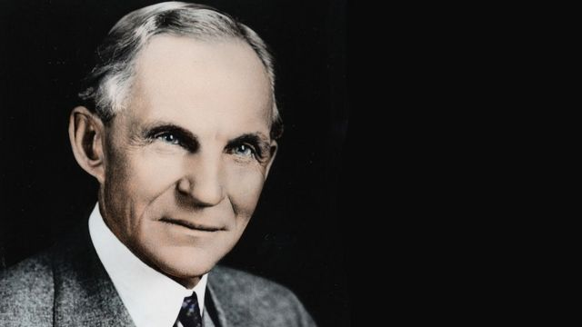 Henry Ford, 1863 - 1947.
