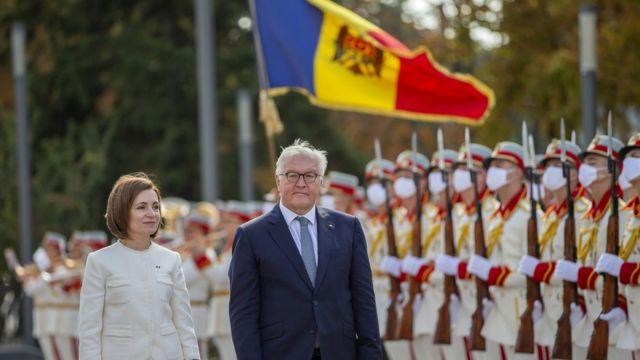 Президент Молдовы Майя Санду и президент ФРГ Франк-Вальтер Штайнмайер