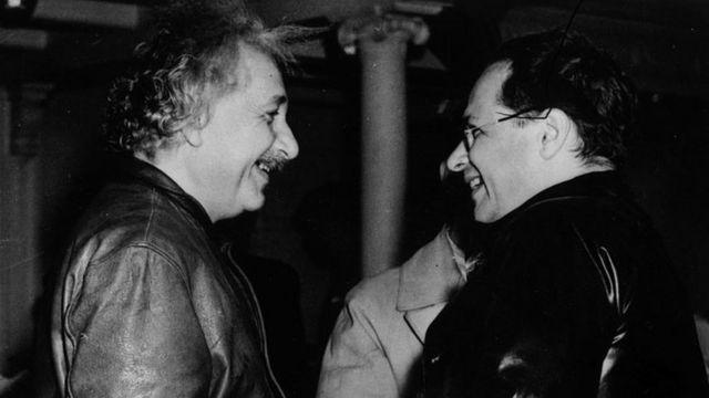 Albert Einstein com Hans Albert Einstein