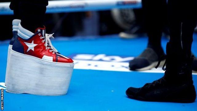 Ismael Salas' platform boots