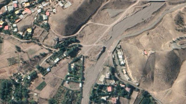تصویر پاییز ۱۳۹۹ همان محل را پیش از خاک برداری احتمالی نشان میدهد