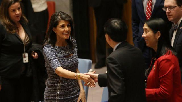 La embajadora de EE.UU. en la ONU.