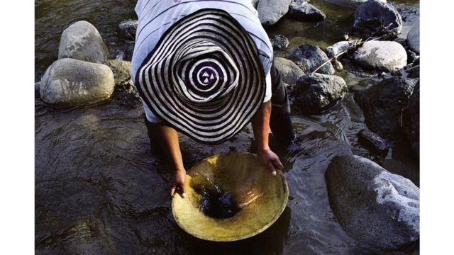 Minero artesanal, El Palo, Cauca.