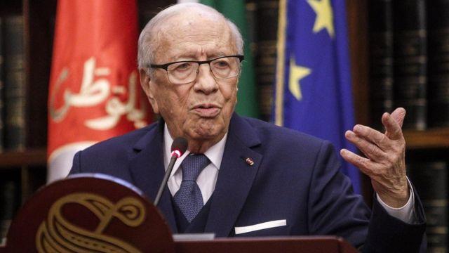 محمد باجی قائد سبسی که از اواخر سال ۲۰۱۴ رئیس جمهور تونس بوده،
