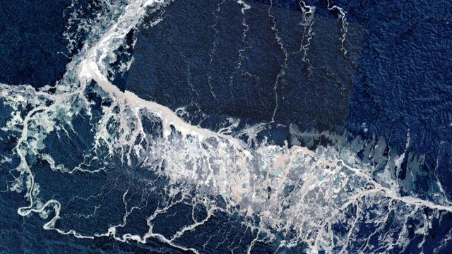 Imagen captada con el satélite PerúSAT-1