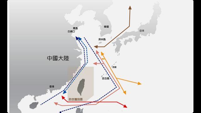 台灣軍方公布的數據指出,一年多以來,中國軍機已經頻繁繞台飛行高達23次。
