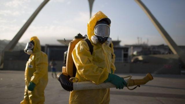 リオデジャネイロでの防虫作業(1月26日)