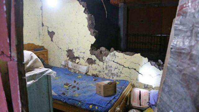 Casas dañadas en Arequipa tras el sismo.