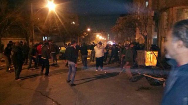 درگیری در محدوده خیابان پاسداران تهران