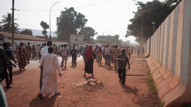 Une manifestation à Bangui - archives