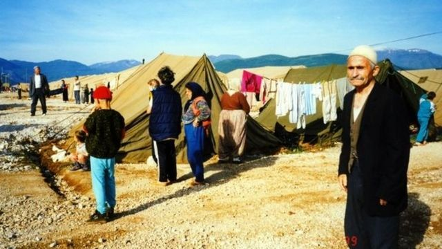 The UAE's camp for displaced Kosovans on the Kosovo-Albanian border, 1999