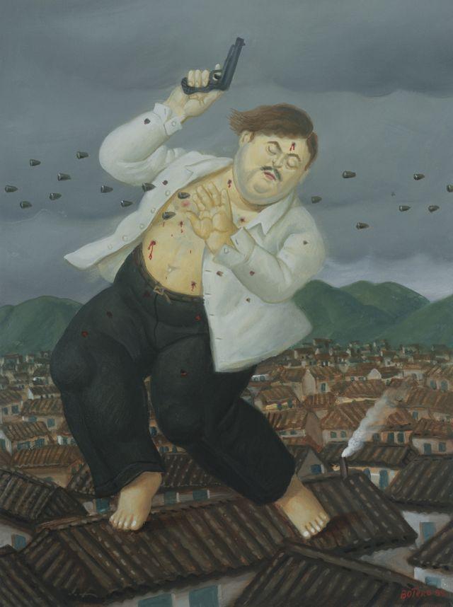 """""""La muerte de Pablo Escobar"""", de 1999."""