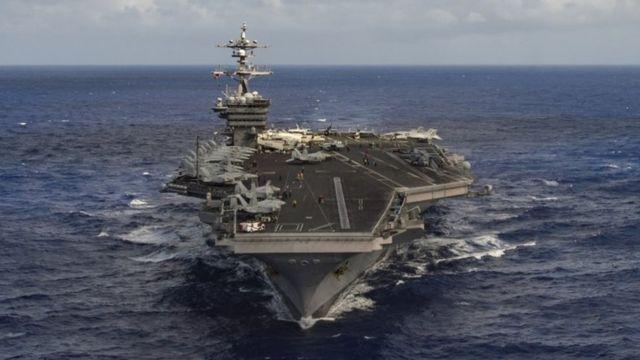 The aircraft carrier USS Carl Vinson (30 January 2017)