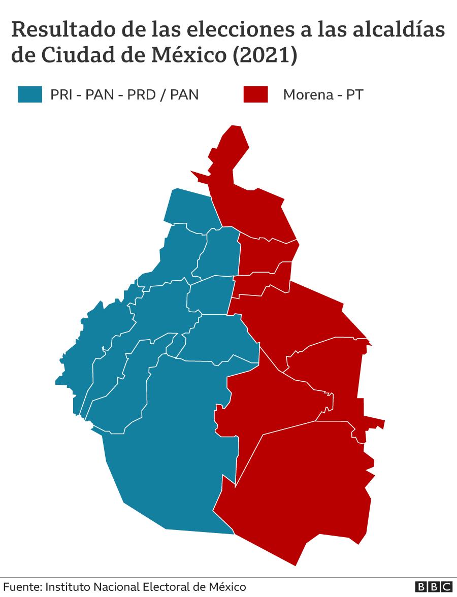 Mapa alcaldias CDMX 2021