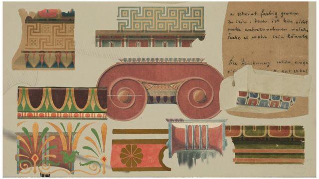 Estudios del uso del color en la antigüedad de Ernst Ziller