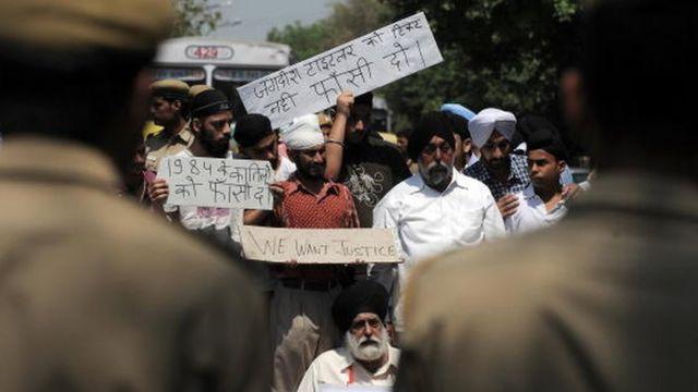 सिख दंगों में न्याय की मांग