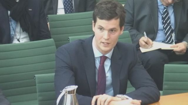 Джастин Бронк из Королевского института оборонных исследований на слушаниях в парламенте