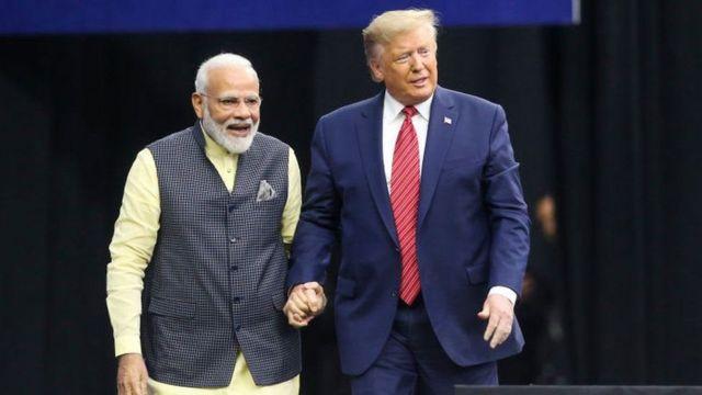 अमेरिकी राष्ट्रपति डोनल्ड ट्रम्प र भारतीय प्रधानमन्त्री नरेन्द्र मोदी