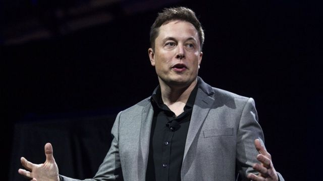 Elon Musk durante la conferencia en Guadalajara, México, este martes.
