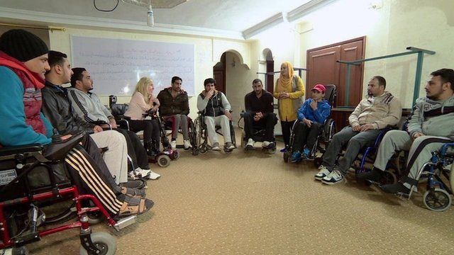 Disabled refugees
