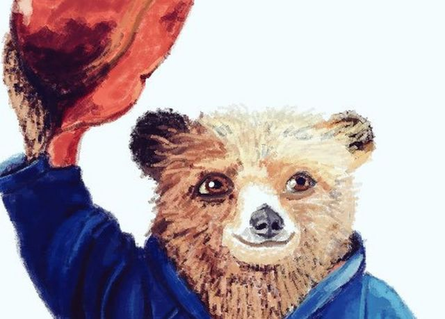 Медвежонок Паддингтон также был нарисован в Paint