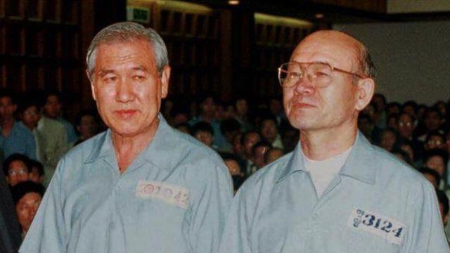 노태우(왼쪽), 전두환 전 대통령
