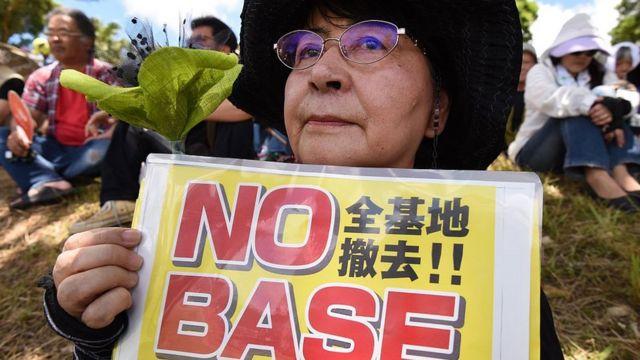 Protesta en Okinawa