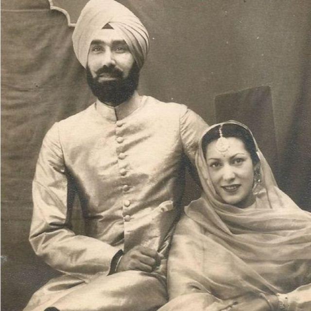 மனைவியுடன் ஜெனரல் ஹர்பக்ஷ் சிங்