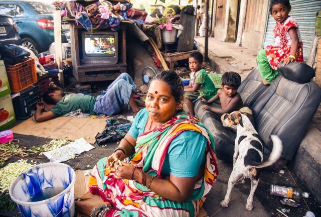 Suburbio en la India