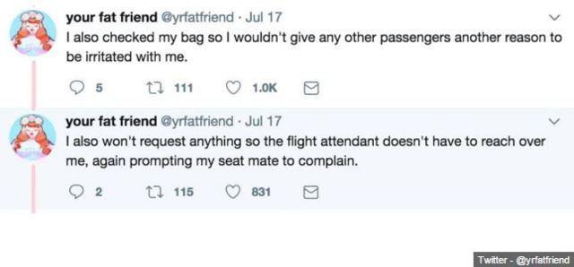 Your Fat Friend Twitter mesajları