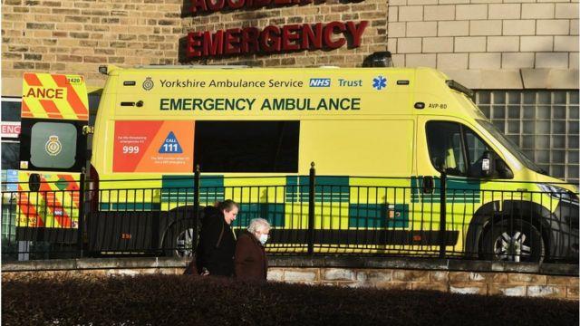Bradford Royal Infirmary Hospital en febrero de 2021.