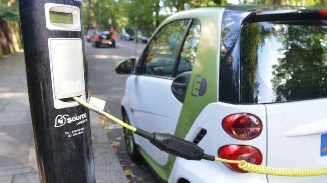 รถยนต์ไฟฟ้ากำลังชาร์จไฟ