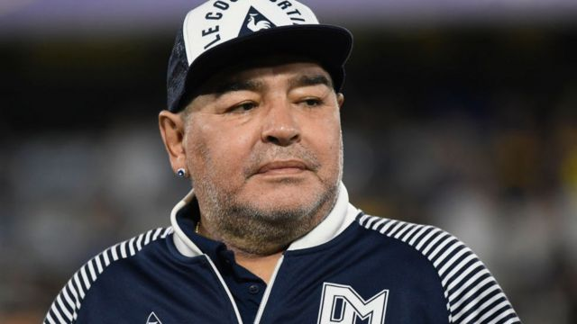 Maradona en 2020.