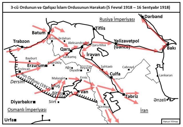 3-cü Ordunun və Qafqaz İslam Ordusunun Qafqazada həratı