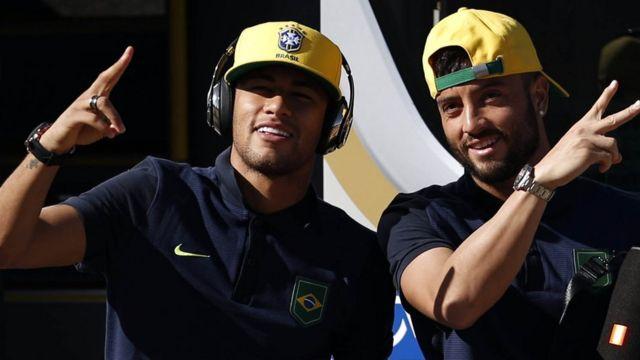 Neymar y Felipe Anderson