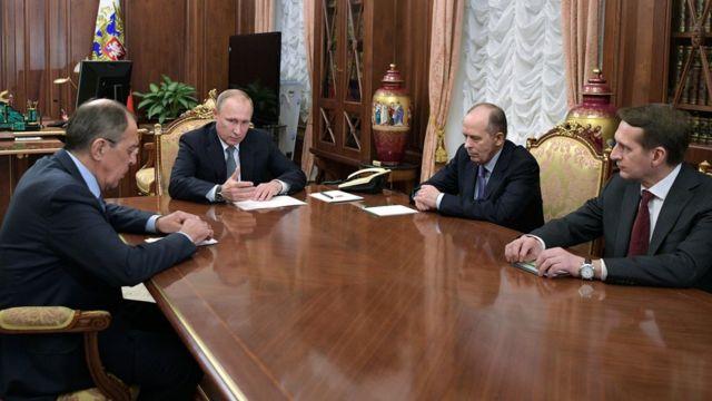 Путин с Лавровым, Бортниковым и Нарышкиным