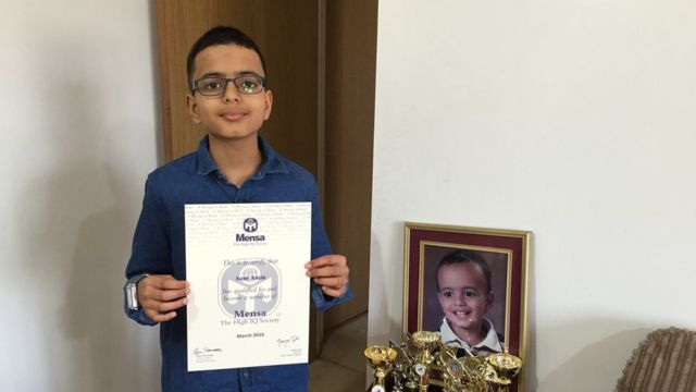 Aum Amin scored two more points than the genius physicists in tests for Mensa the high IQ society.