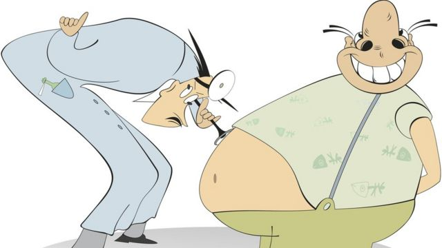 Врач и толстый пациент