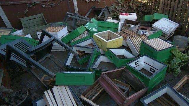 Flood-damaged items in York