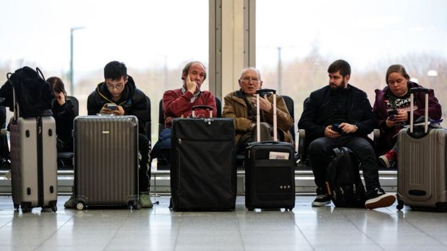 Пассажиры в Гатвике