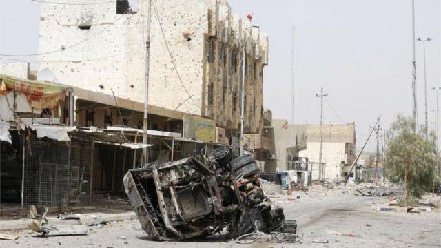 A cidade de Fallujah foi recuperada pelo Exército iraquiano.
