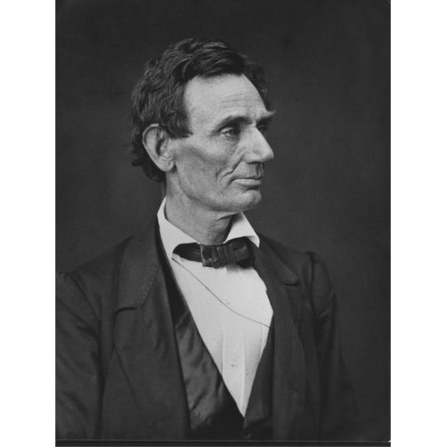 Retrato do ex-presidente americano Abraham Lincoln