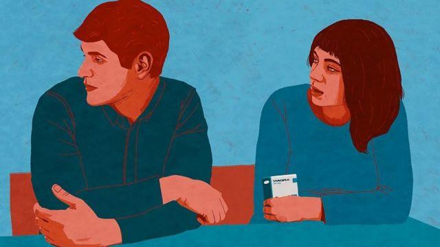мужчина и женщина на рисунке